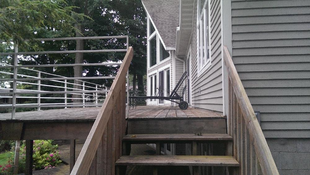 Deck - 3 decks lower - hot tub - and upper