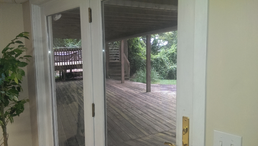 Deck - a view of the north side of lower deck