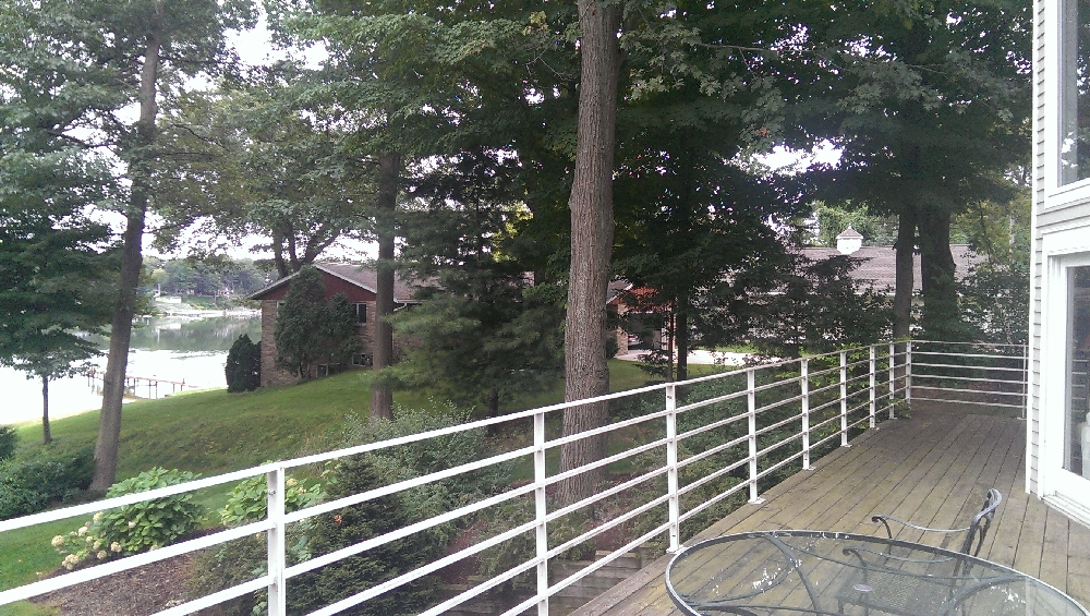 Deck - a view to the southeast over George and Lois Bennets home
