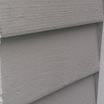 Deck - contrasting white trim with attractive lite grey siding