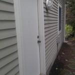 Garage - side entrance on north side of garage