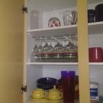 Kitchen - plenty of shelf storage in the kitchen