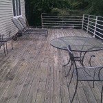 deck - spacious upper deck with quality furniture